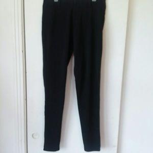 Black stretch leggings sz M (8-10)